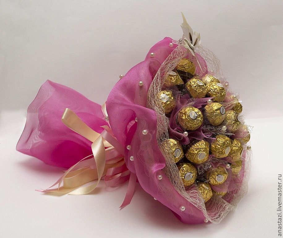Красивые букеты с конфетами своими руками